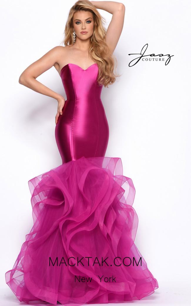 Jasz Couture 7127 Fuchsia Front Dress
