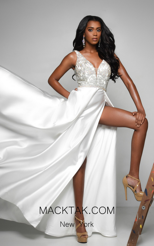 Jasz Couture 7135 Ivory Front Dress