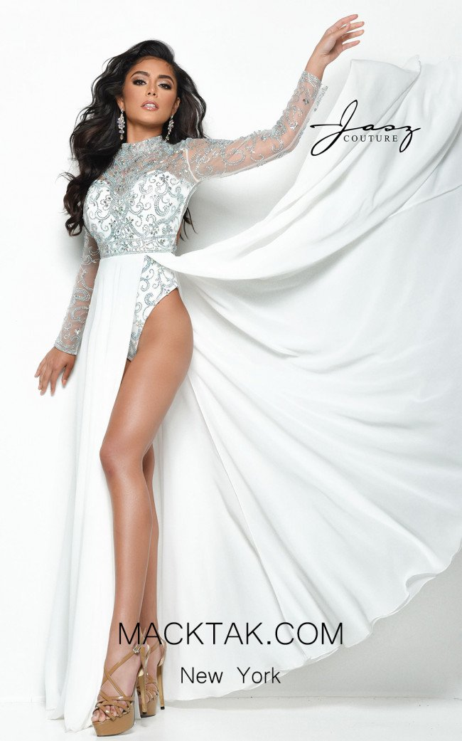 Jasz Couture 7137 Ivory Front Dress