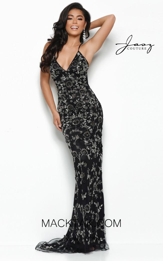 Jasz Couture 7143 Black Front Dress