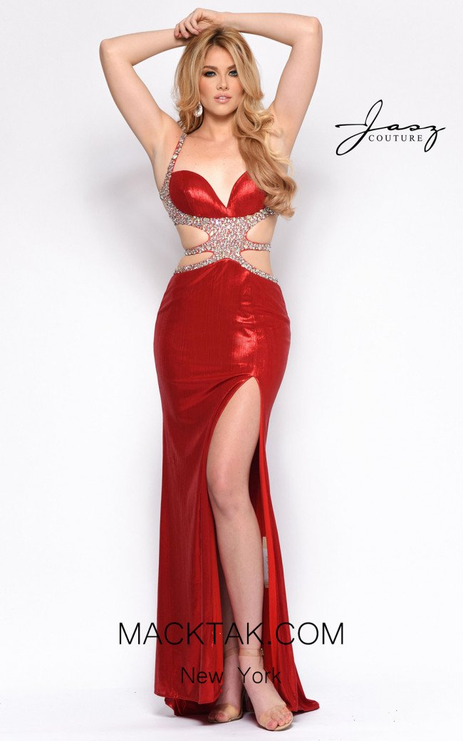 Jasz Couture 7147 Red Front Dress