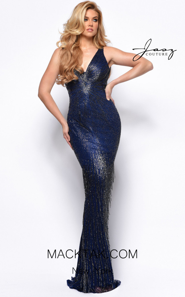 Jasz Couture 7151 Midnight Front Dress