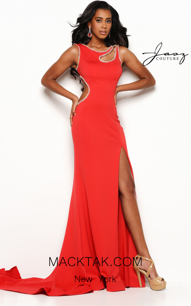 Jasz Couture 7155 Red Front Dress