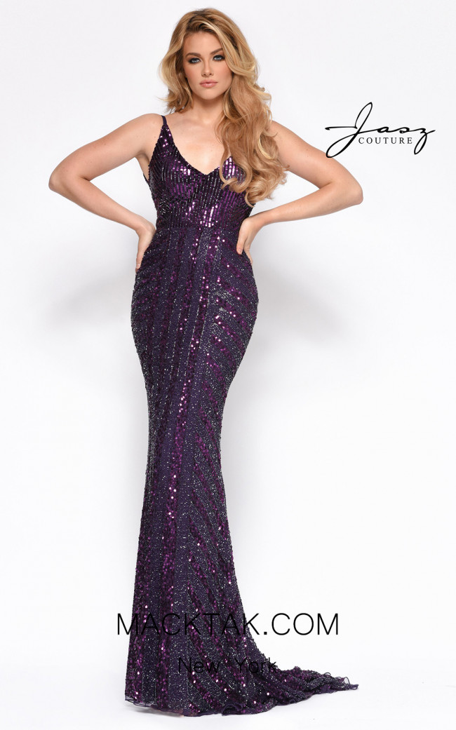 Jasz Couture 7156 Plum Front Dress