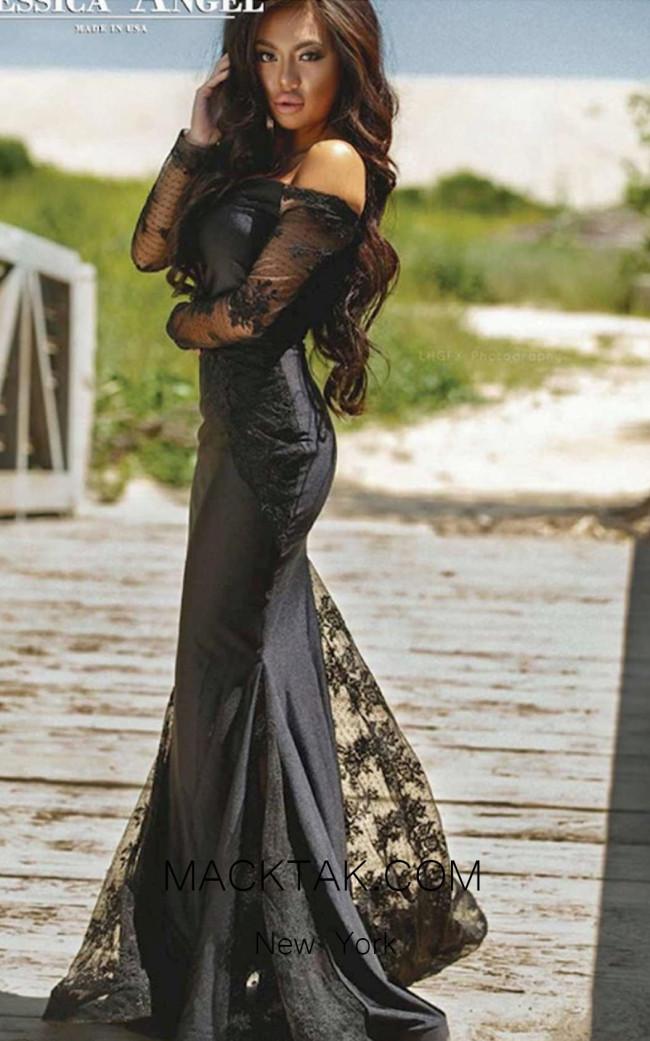 Jessica Angel 487 Black Front Dress