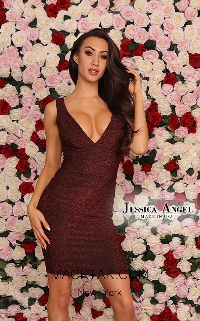 Jessica Angel 117 Red Black Front Dress