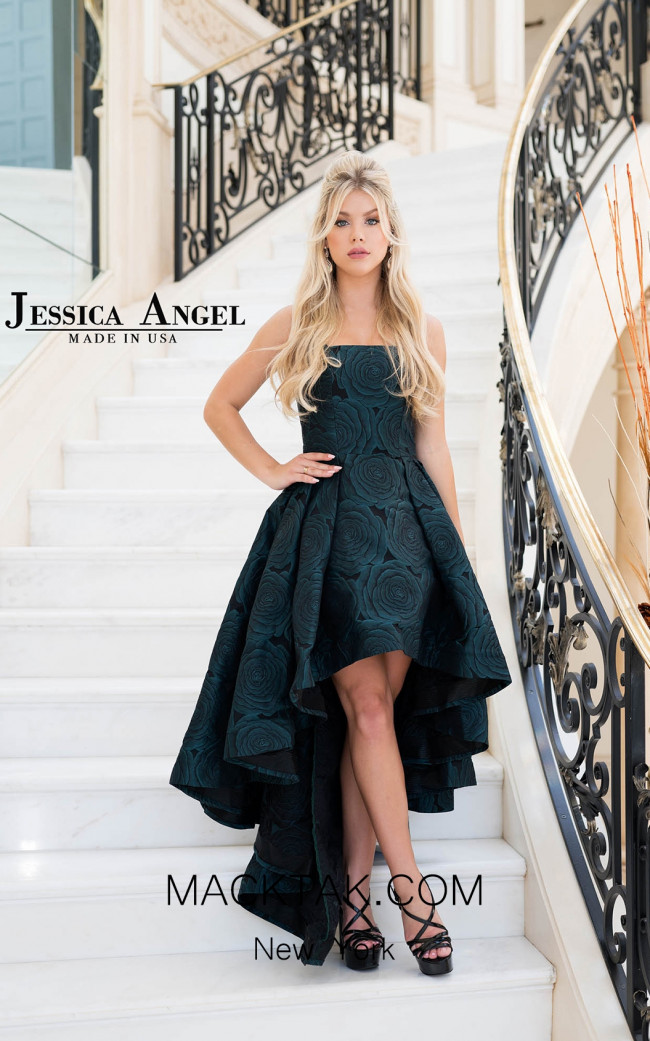 Jessica Angel 134 Green Black Front Dress