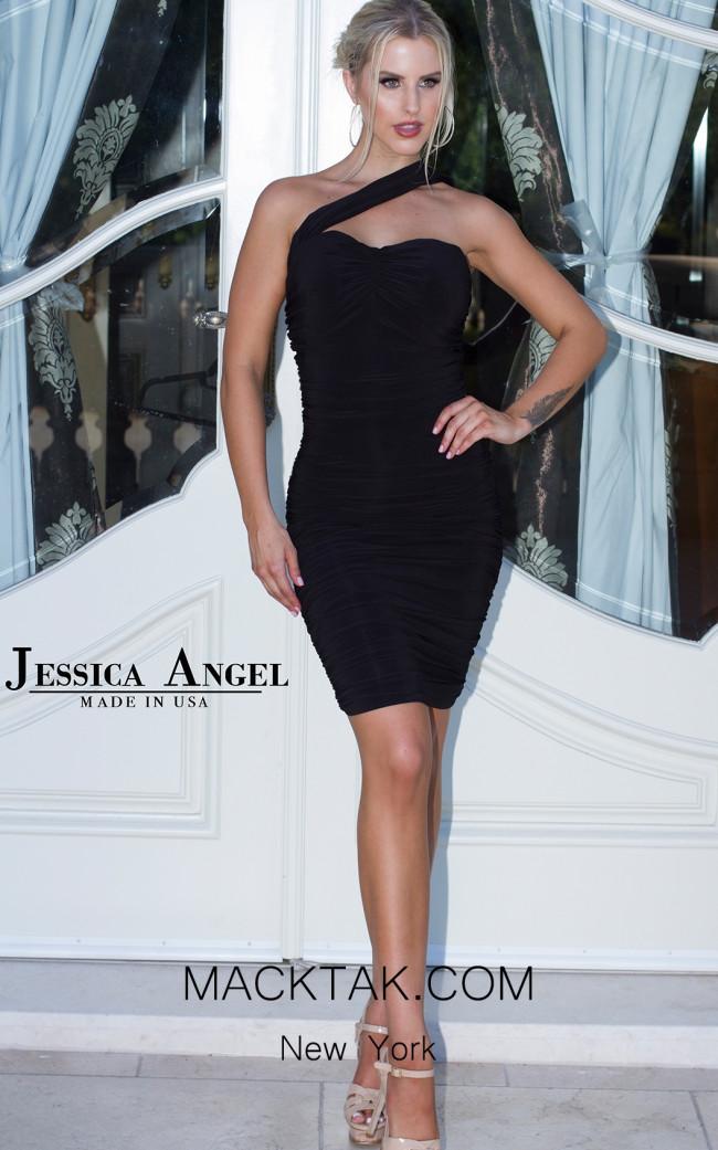 Jessica Angel 167 Black Front Dress