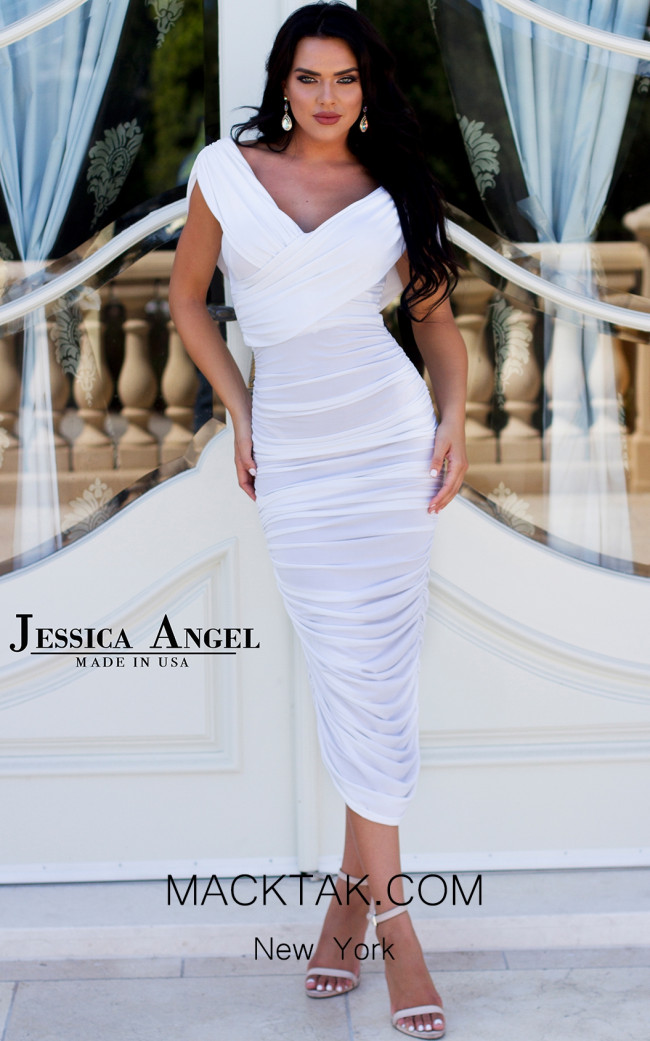 Jessica Angel 267 White Front Dress