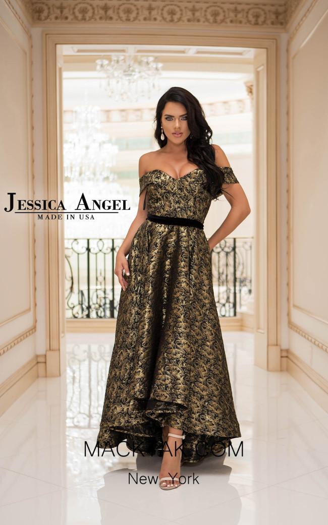 Jessica Angel 344 Black Gold Front Dress