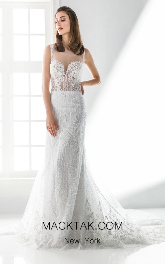 Jiouli Thessaloniki 779 White Front Wedding Dress