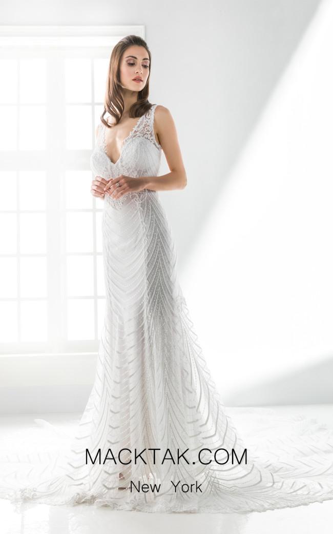 Jiouli Mvmorfia 783 White Front Wedding Dress