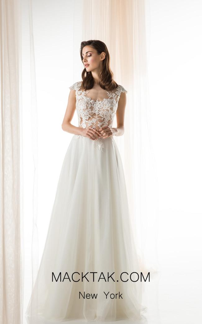 Jiouli Agavi 735 Ivory Front Wedding Dress