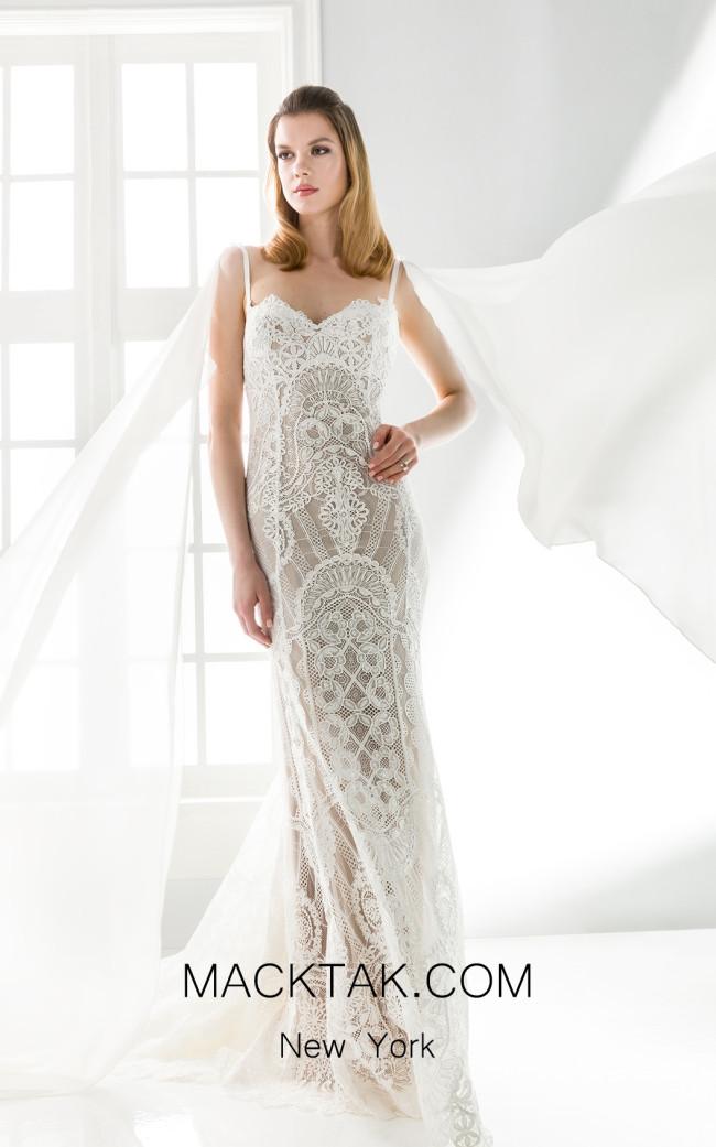 Jiouli Aktea 766 Ivory Front Wedding Dress