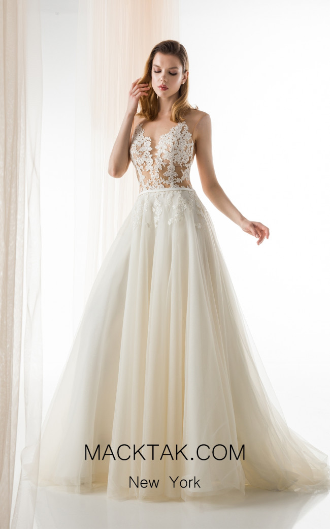 Jiouli Charis 733 Ivory Front Wedding Dress