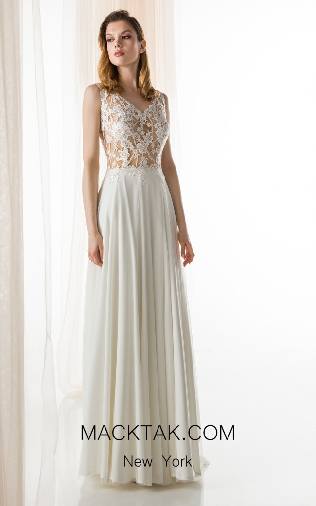 Jiouli Evdori 734 Ivory Front Wedding Dress