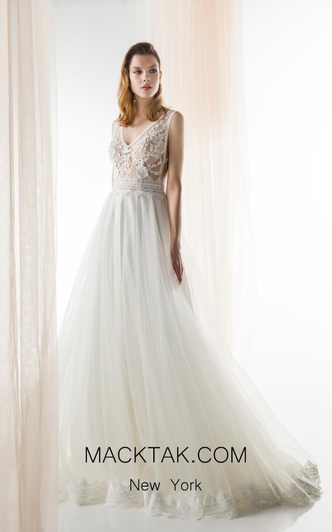 Jiouli Dorida 776 Ivory Front Wedding Dress