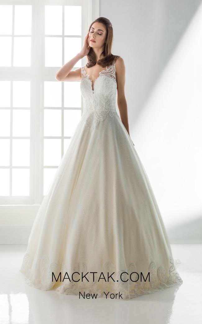 Jiouli Doto 719 Ivory Front Wedding Dress