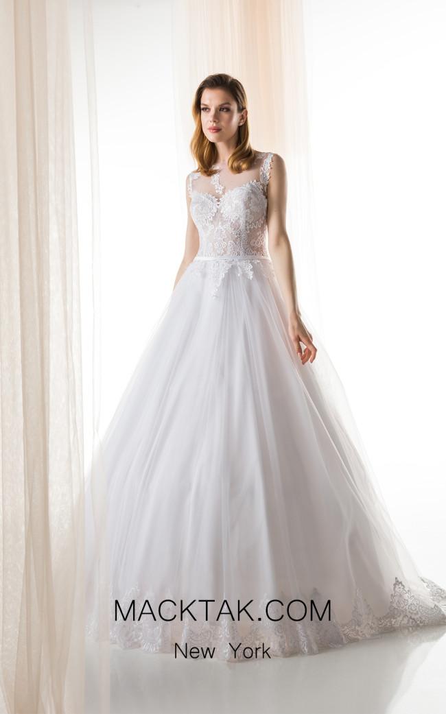 Jiouli Efterpi 764 White Front Wedding Dress
