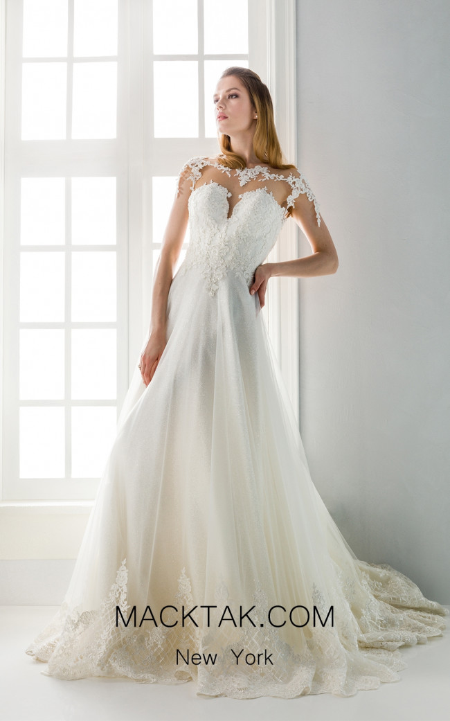 Jiouli Erato 758 Ivory Front Wedding Dress