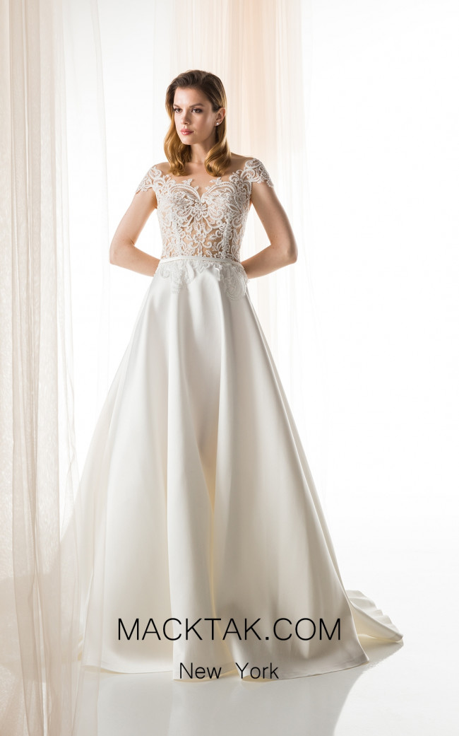 Jiouli Evriali 750 Ivory Front Wedding Dress