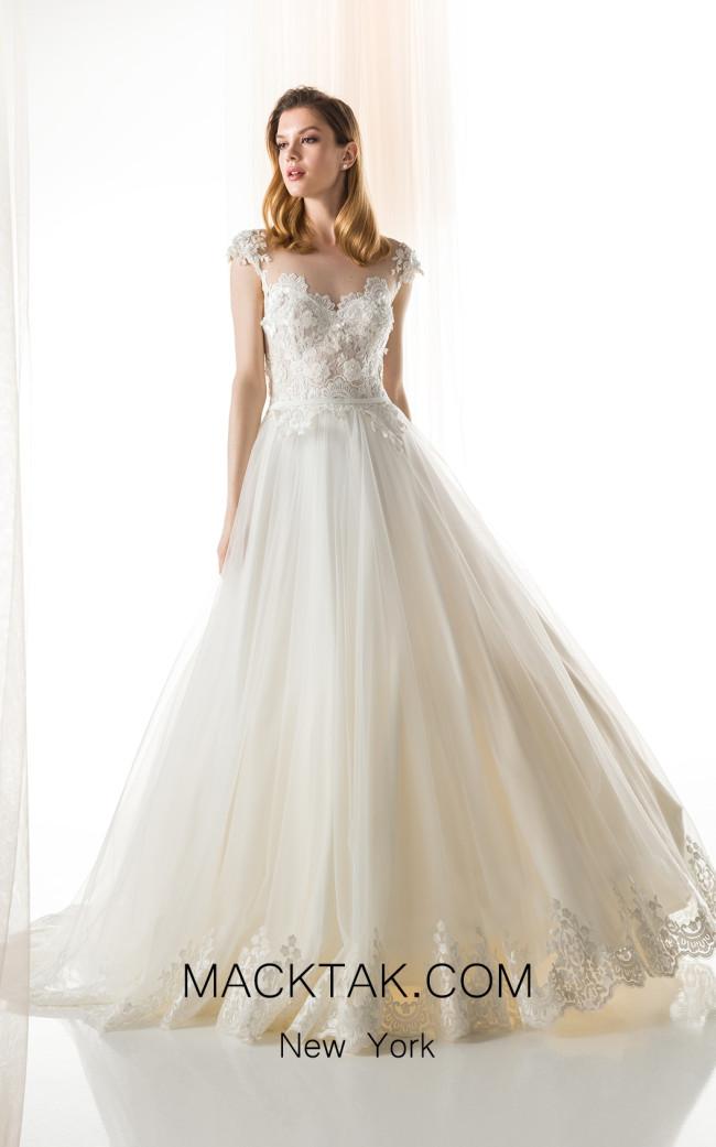 Jiouli Evrikila 763 Ivory Front Wedding Dress