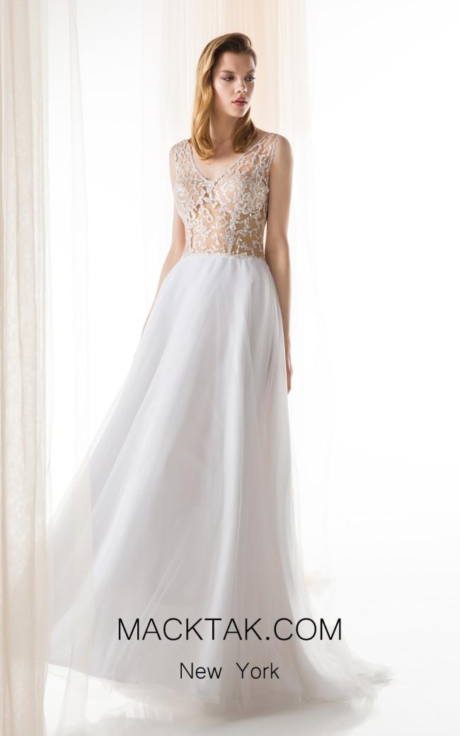 Jiouli Ipponoi 769 White Front Wedding Dress