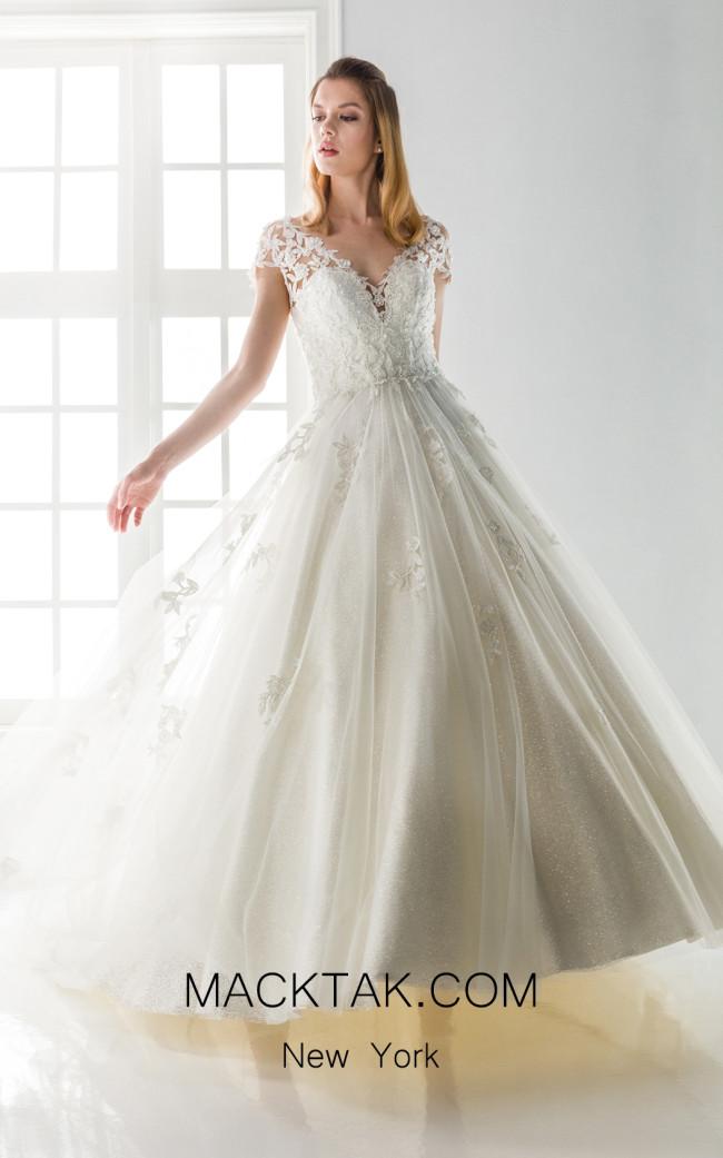 Jiouli Kiveli 745 Ivory Front Wedding Dress