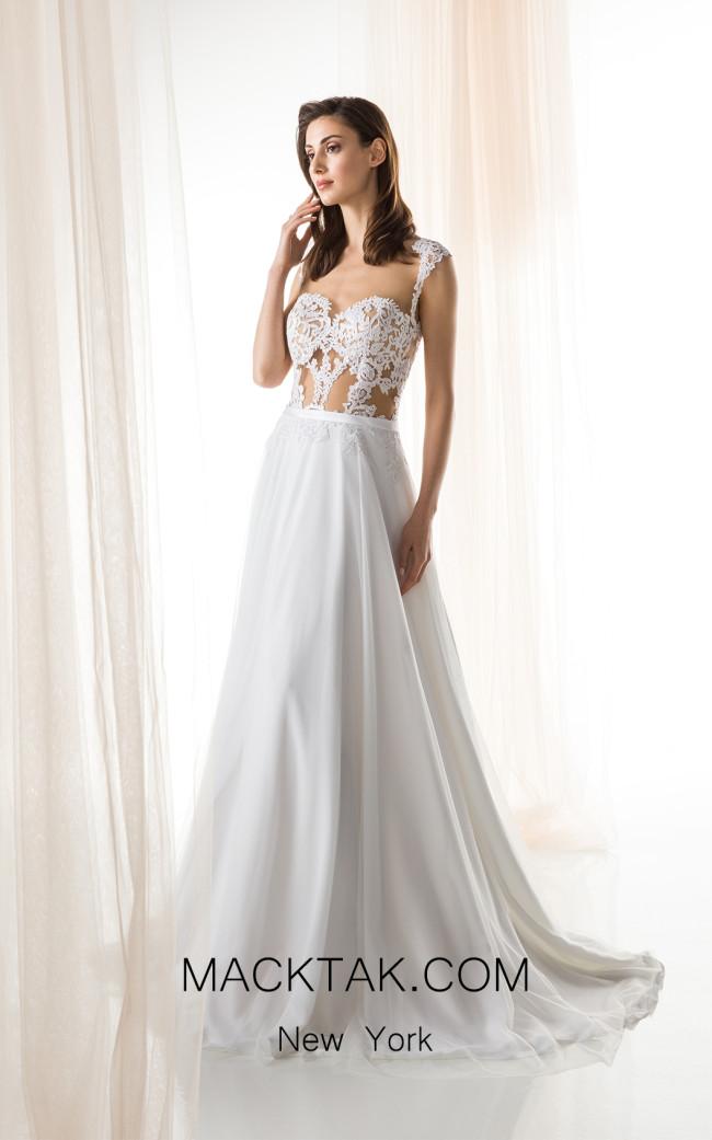 Jiouli Maia 737 White Front Wedding Dress