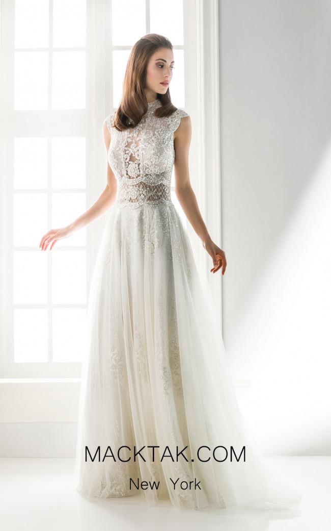 Jiouli Medusa 786 Ivory Front Wedding Dress