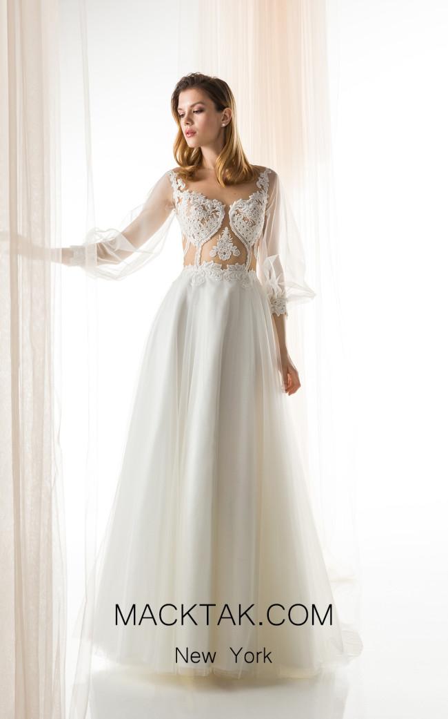 Jiouli Melpomeni 778 Ivory Front Wedding Dress
