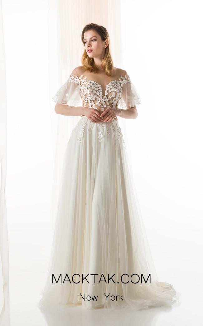 Jiouli Naias 760 Ivory Front Wedding Dress