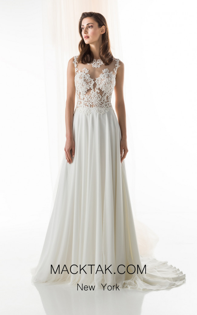 Jiouli Okeanida 759 Ivory Front Wedding Dress