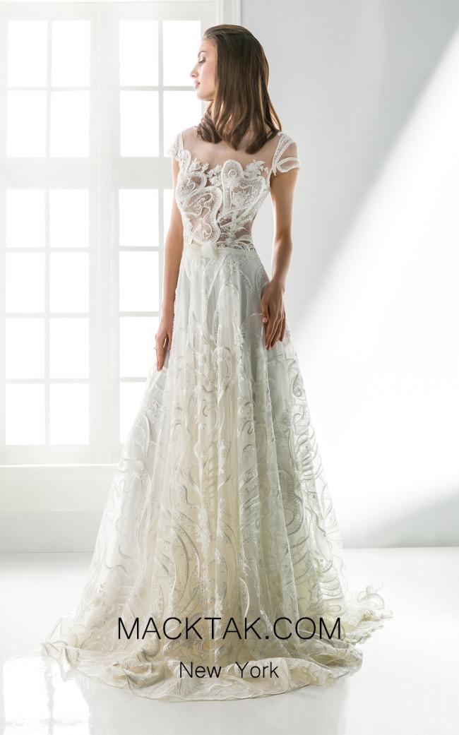 Jiouli Polynoe 751 Ivory Front Wedding Dress