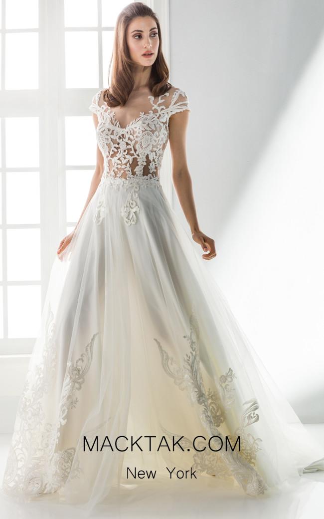 Jiouli Urania 741 Ivory Front Wedding Dress