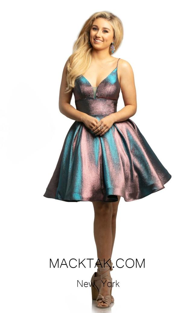 Johnathan Kayne 9201 Aqua Pink Front Dress