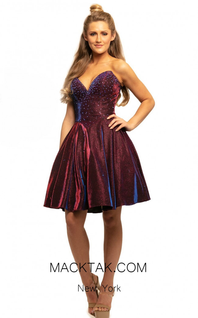 Johnathan Kayne 9202 Raspberry Front Dress