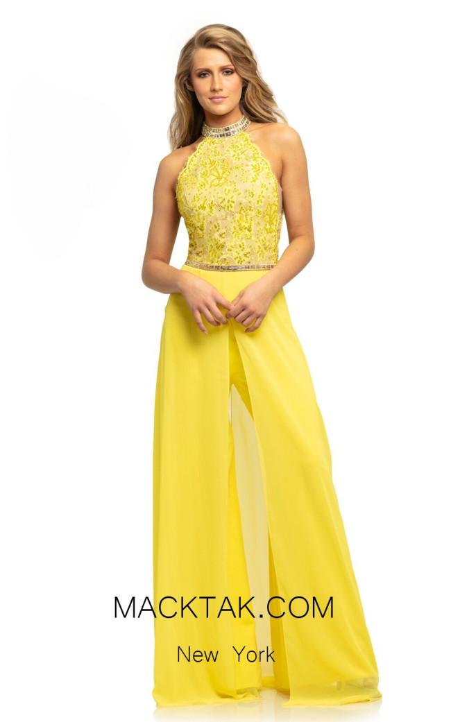 Johnathan Kayne 9205 Yellow Front Dress