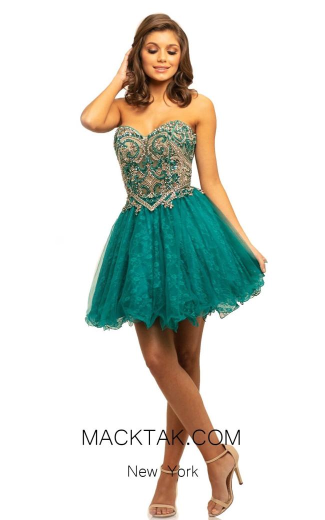 Johnathan Kayne 9214 Teal Front Dress