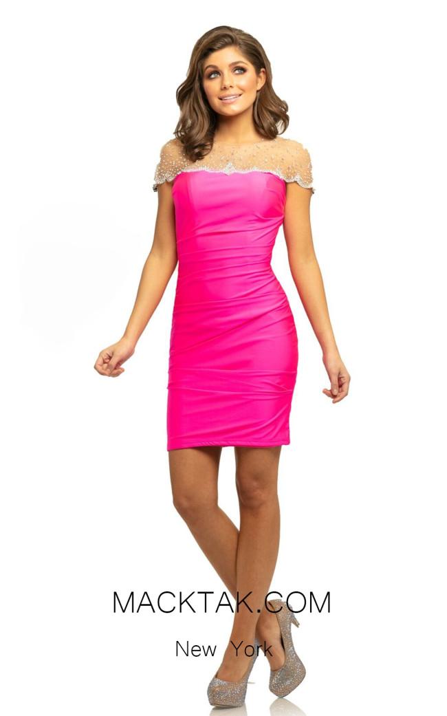 Johnathan Kayne 9218 Hot Pink Front Dress