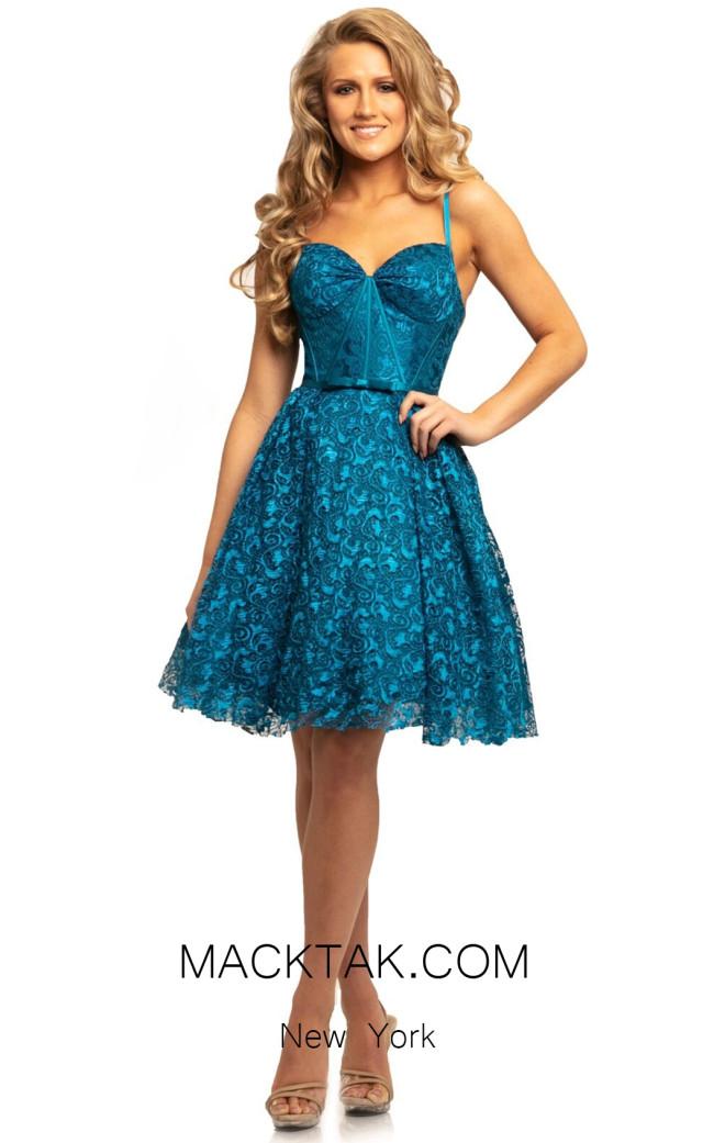 Johnathan Kayne 9219 Teal Front Dress