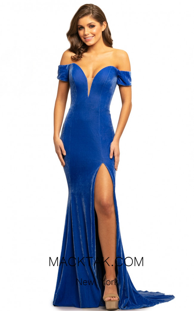 Johnathan Kayne 9227 Celestial Blue Front Dress