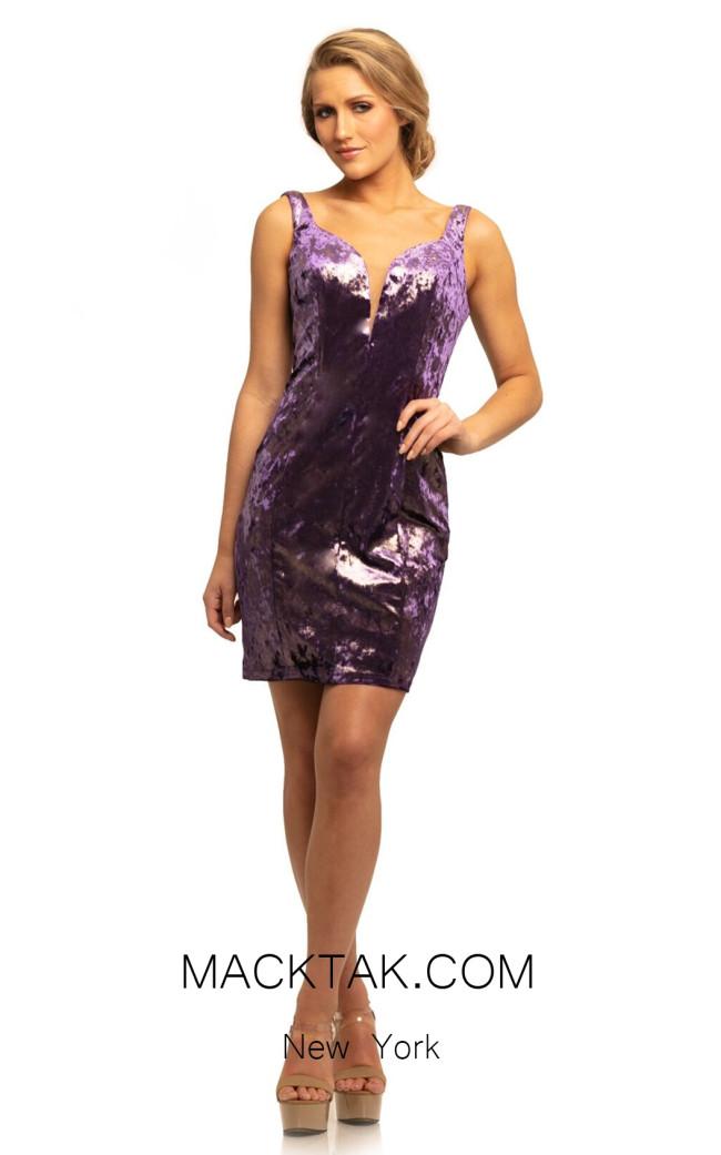Johnathan Kayne 9228 Purple Front Dress