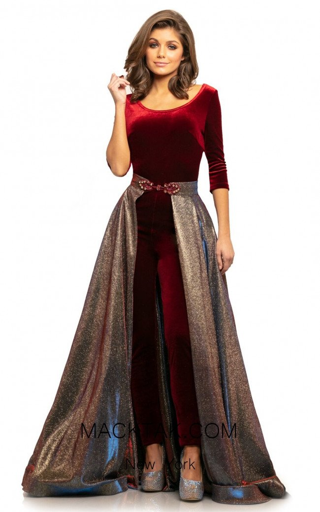 Johnathan Kayne 9229 Crimson Front Dress