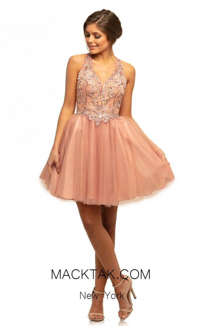 Johnathan Kayne 9234 Light Rose Front Dress