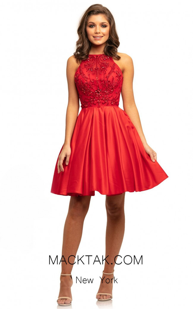 Johnathan Kayne 9236 Red Front Dress