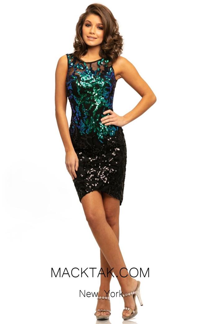 Johnathan Kayne 9238 Mermaid Black Front Dress