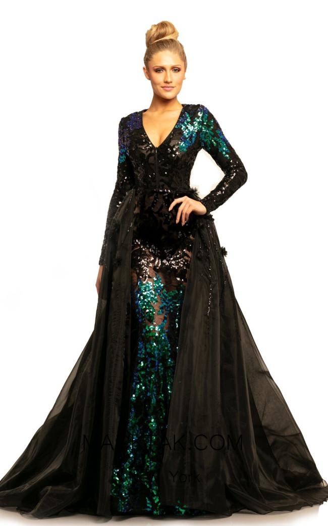 Johnathan Kayne 9239 Mermaid Black Front Dress