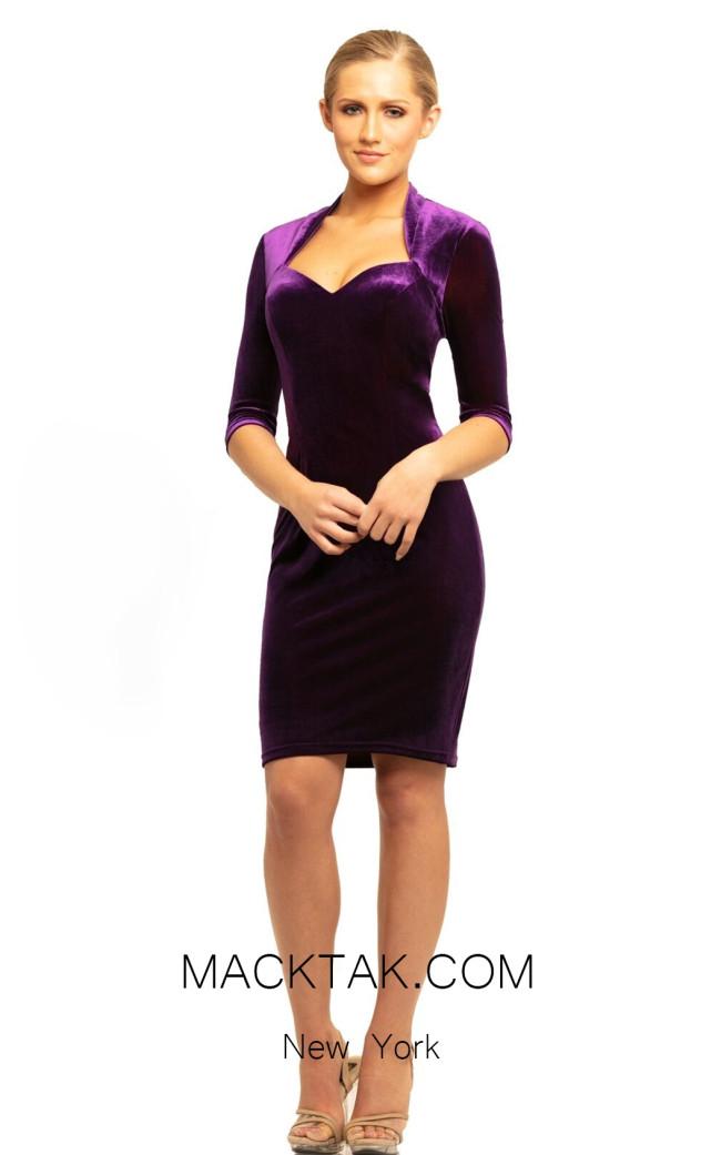 Johnathan Kayne 9244 Purple Front Dress
