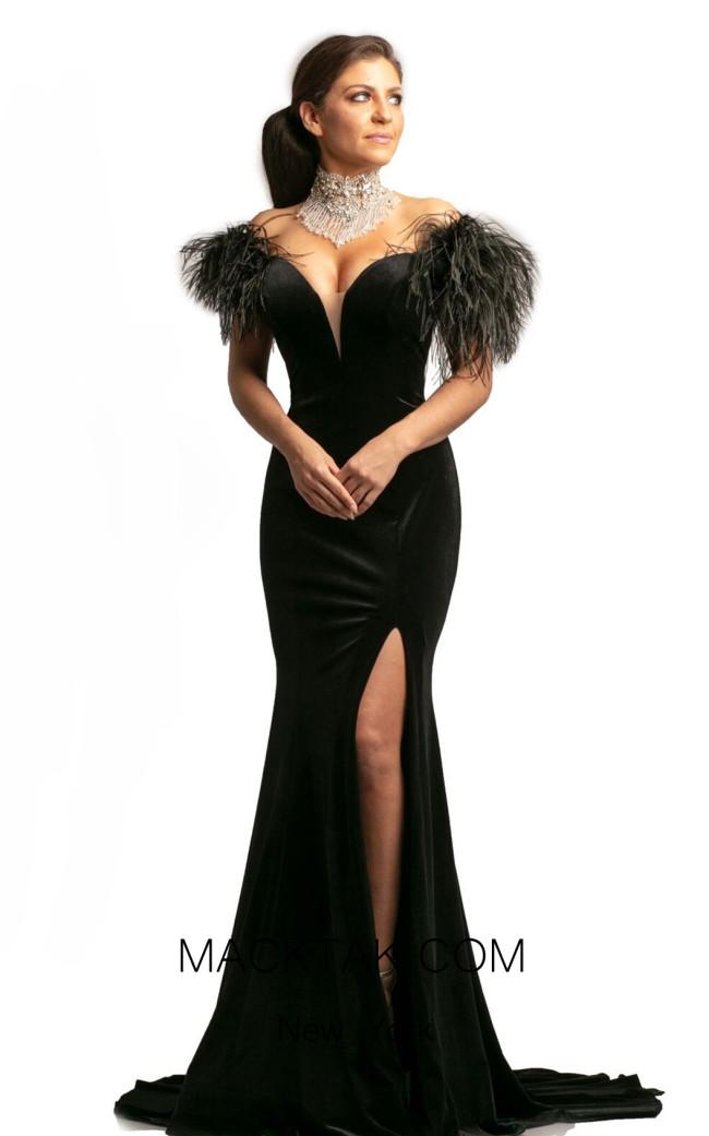 Johnathan Kayne 9249 Black Front Dress